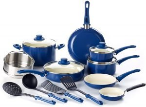 GreenLife Soft Grip 16-Piece Cookware Set